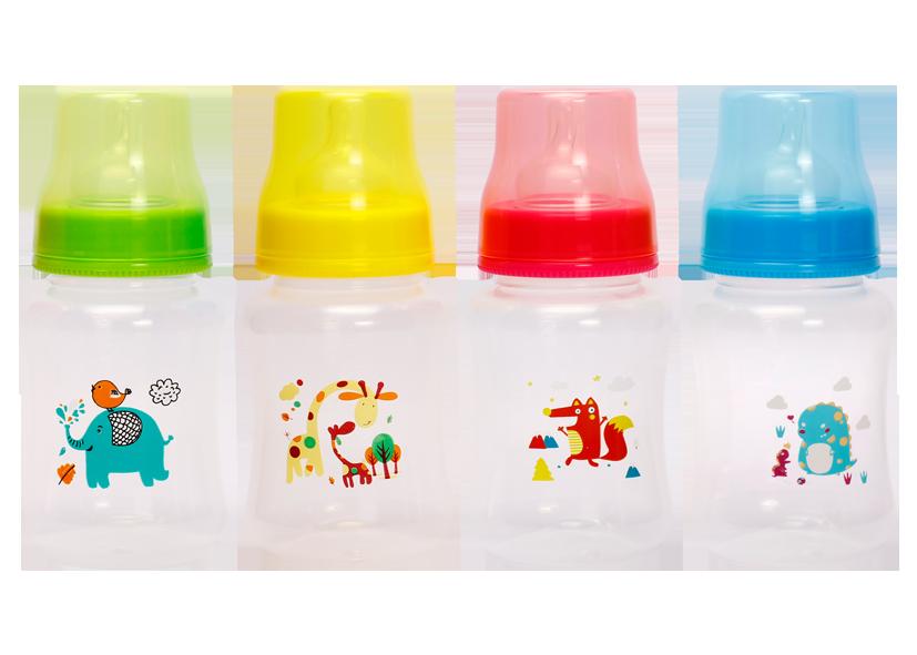 Пляшечка з широким горлом та силіконовою соскою